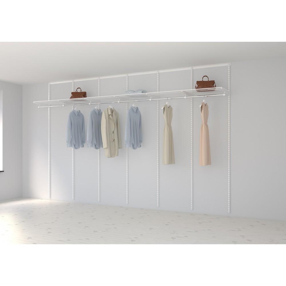 kit dressing basique l360xp40 cm blanc elfa sur bricozor