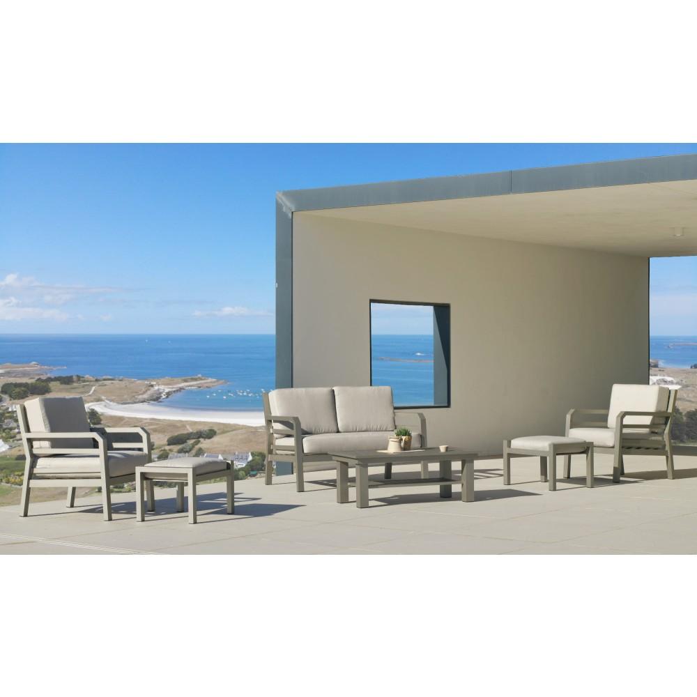 salon de jardin aluminium champagne azenora indoor outdoor sur bricozor