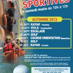 Découverte Sportive : Automne 2013