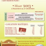 Golf : Cycle Hiver 2013