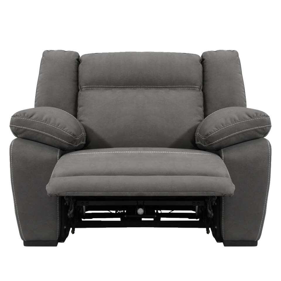 fauteuil relax dean skai gris fonce