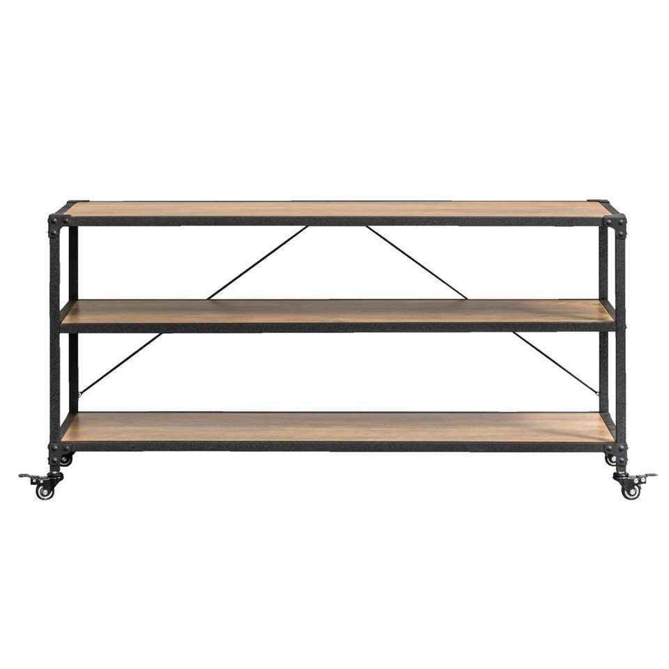 meuble tv lennox brun noir 58x120x39 5 cm