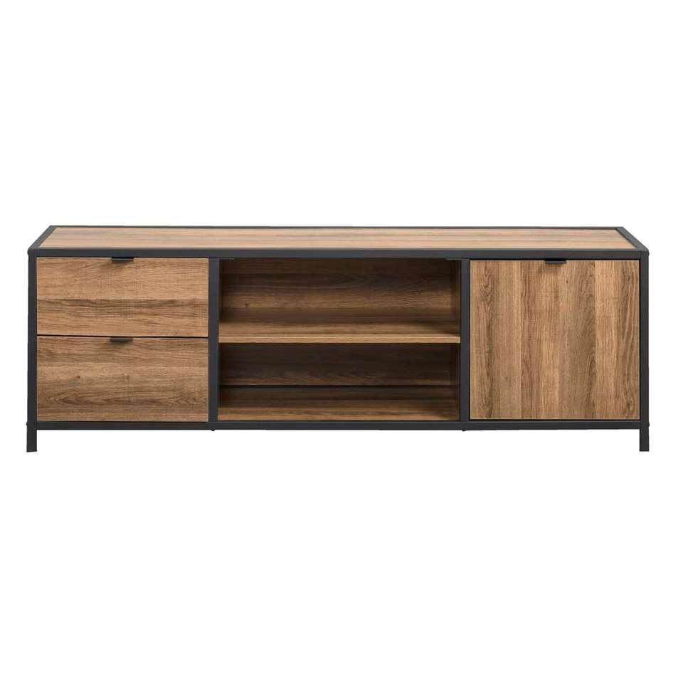 dressoir tv bodhi brun noir 45x140x39 cm