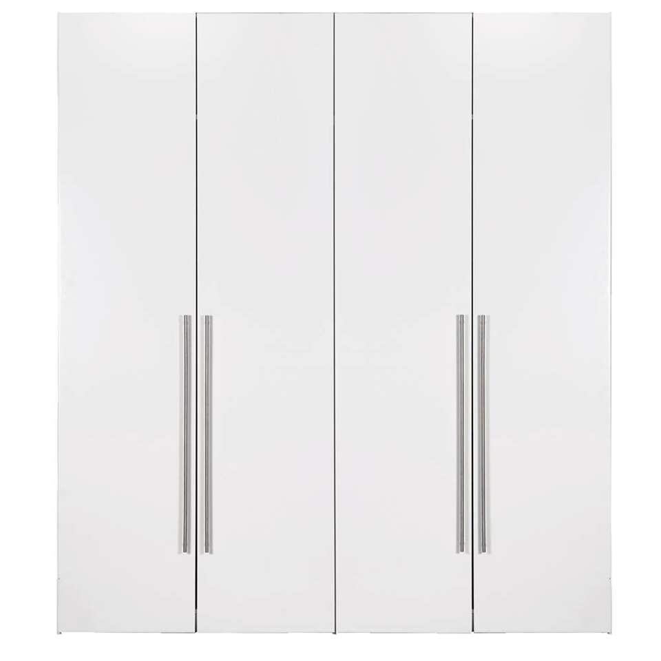 armoire bergen 4 portes blanche 219x196x59 5 cm