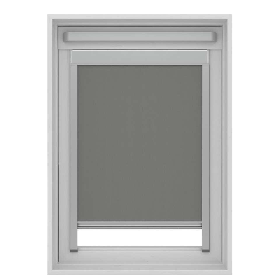 store enrouleur occultant pour fenetre de toit gris mk04 78x98 cm