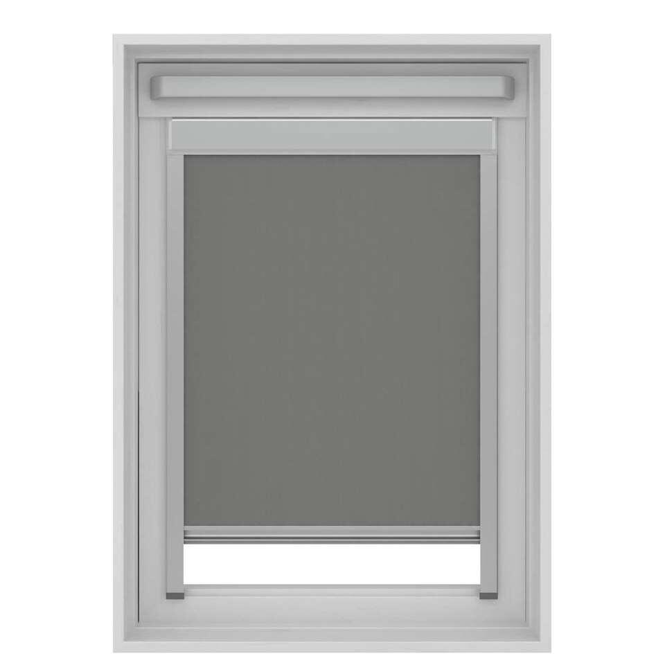 store enrouleur occultant pour fenetre de toit gris sk06 114x118 cm