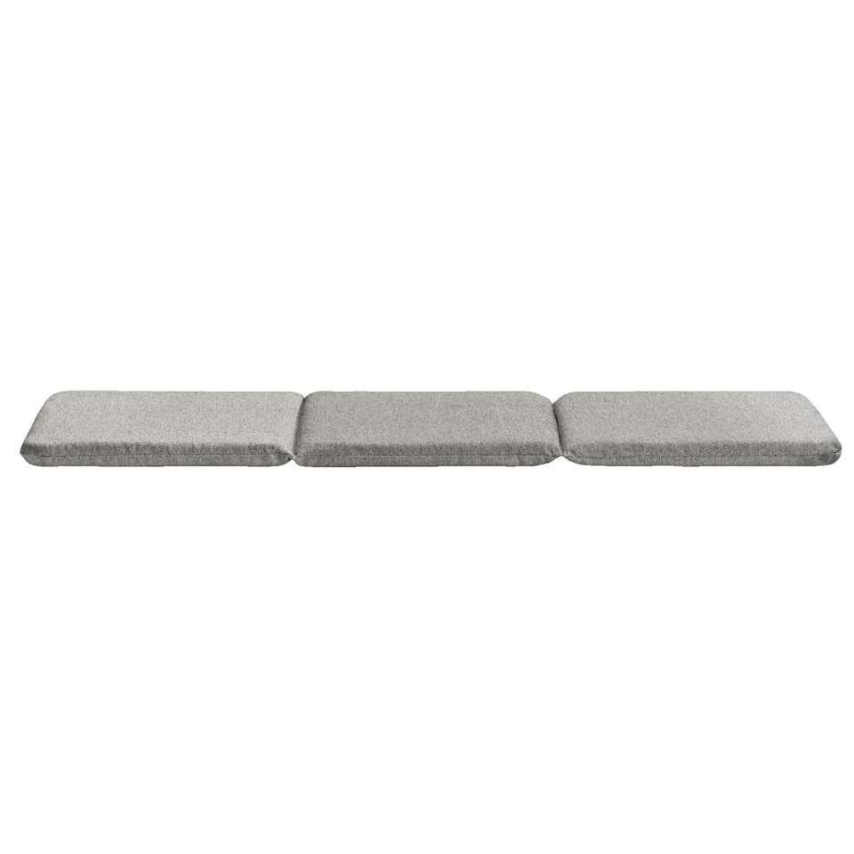 coussin pour banc de jardin menorca gris 105x35x3 cm