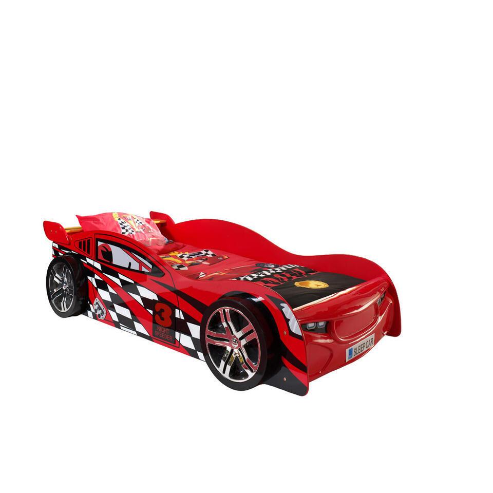 vipack lit voiture night speeder rouge