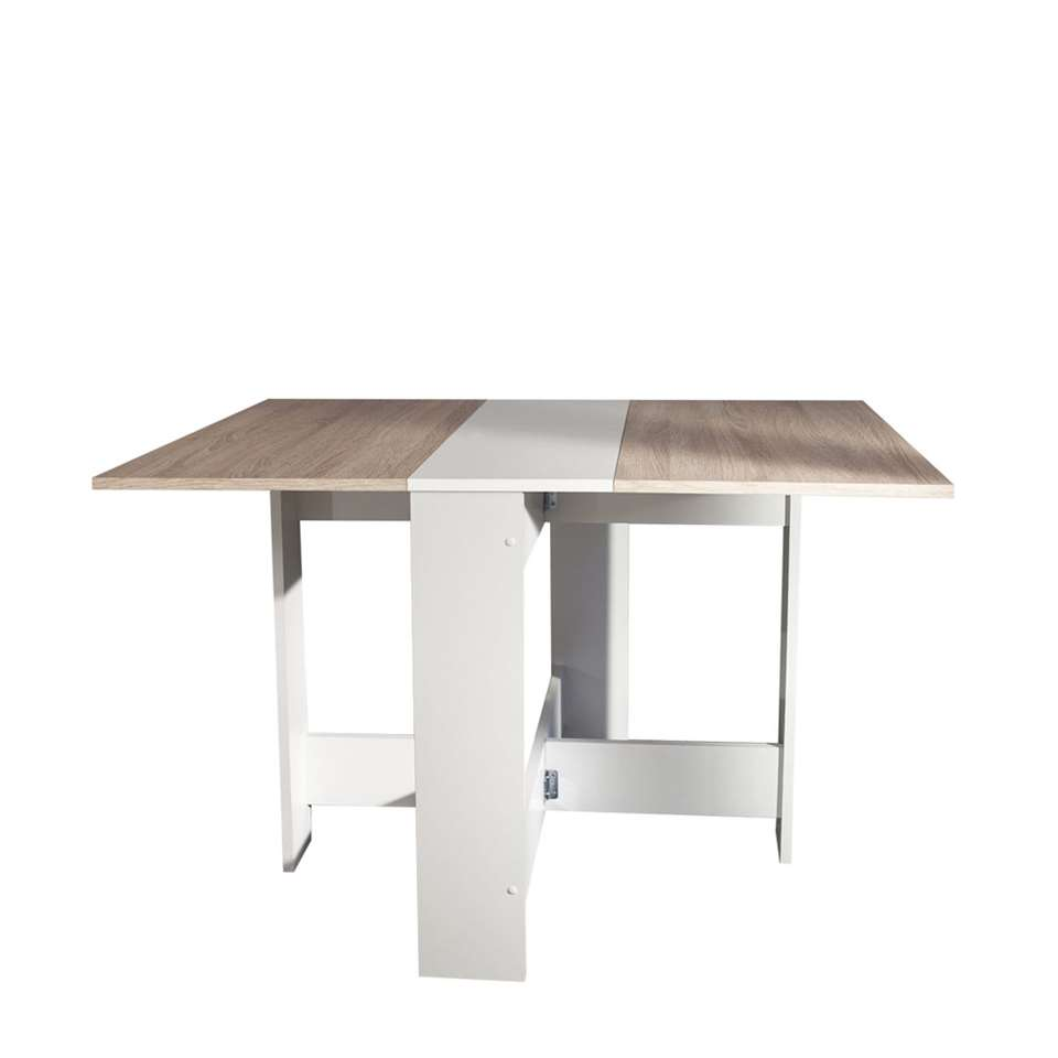 symbiosis table escamotable laugen blanche couleur chene 73 4x28x76 cm
