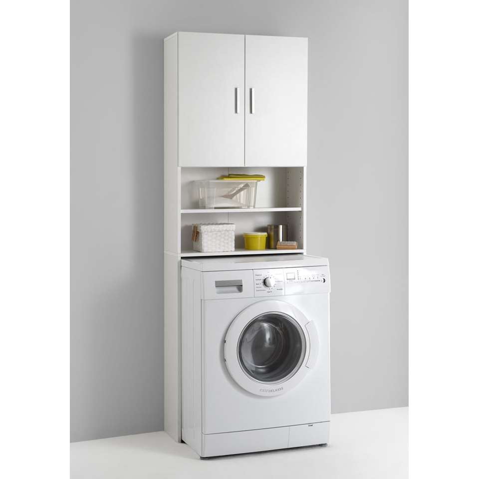 armoire pour lave linge olbia blanc