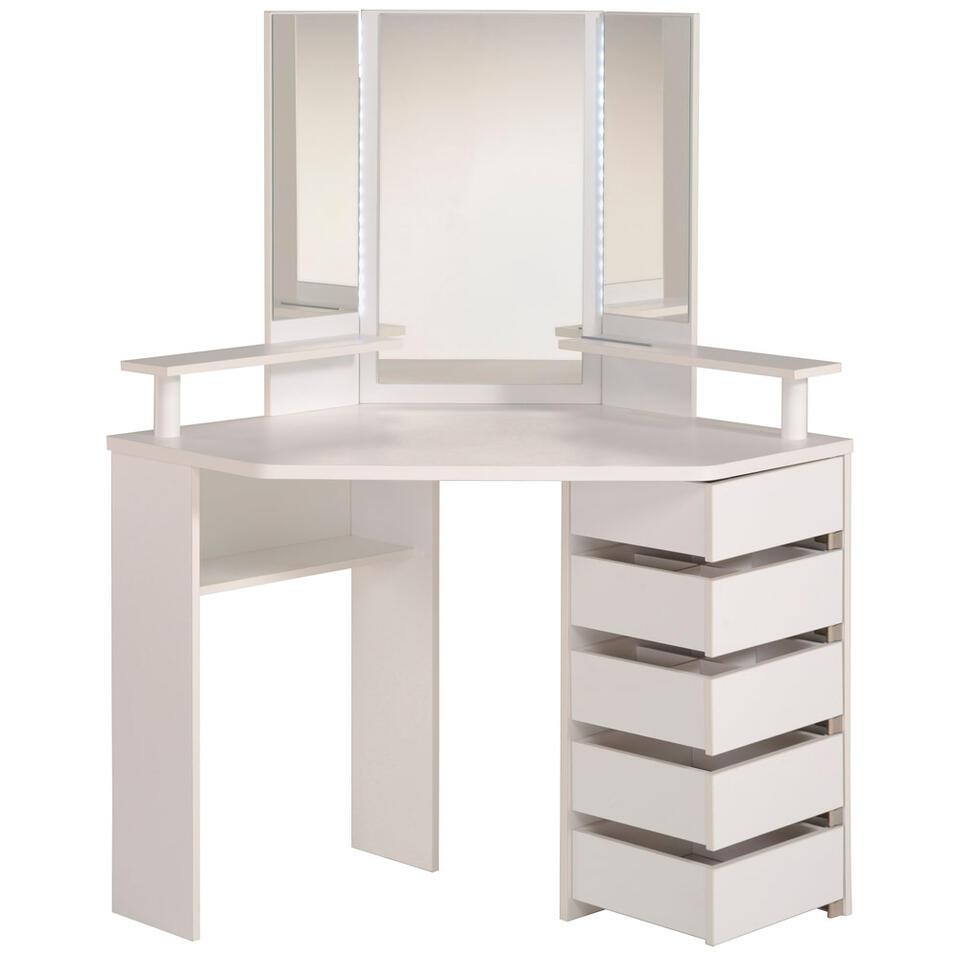 coiffeuse volage blanc 142x113 5x61 cm