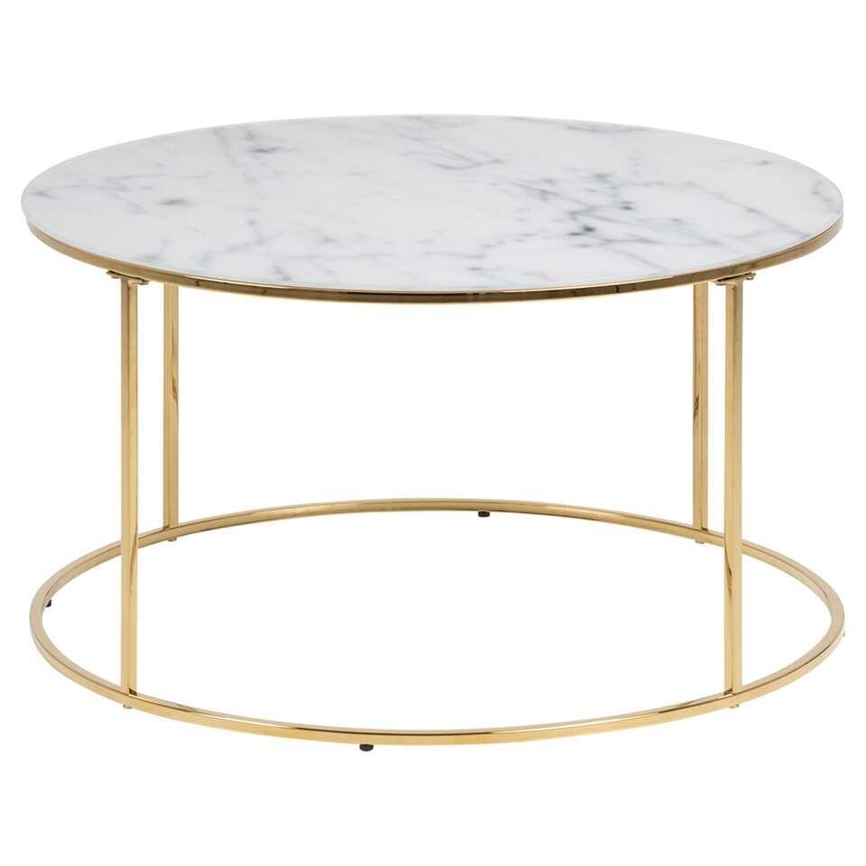 table basse lousa dessin marbre couleur or 44x80 cm