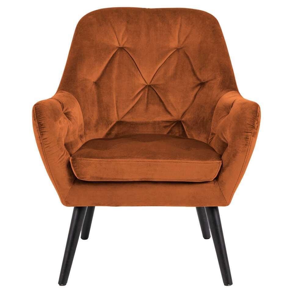 fauteuil bergen velours couleur cuivre