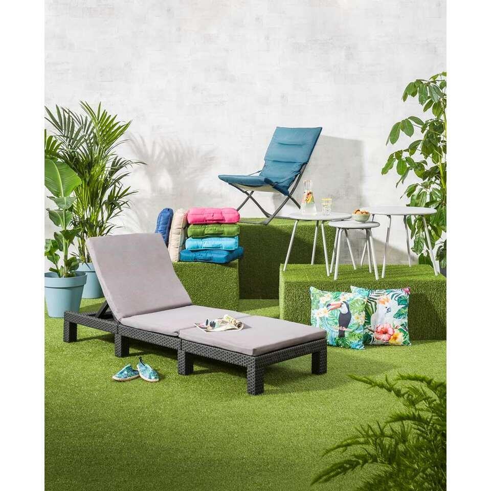 allibert lit bain de soleil daytona sans coussin gris 195x65x21 cm