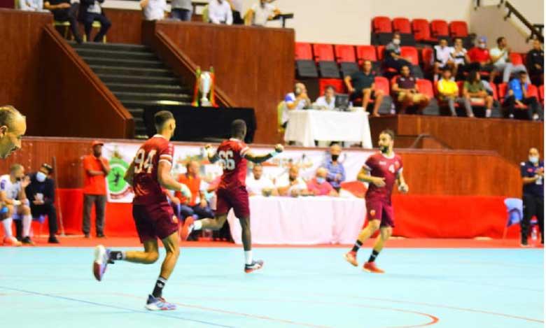 Le Widad Smara lors d'un match de la division excellence de handball.