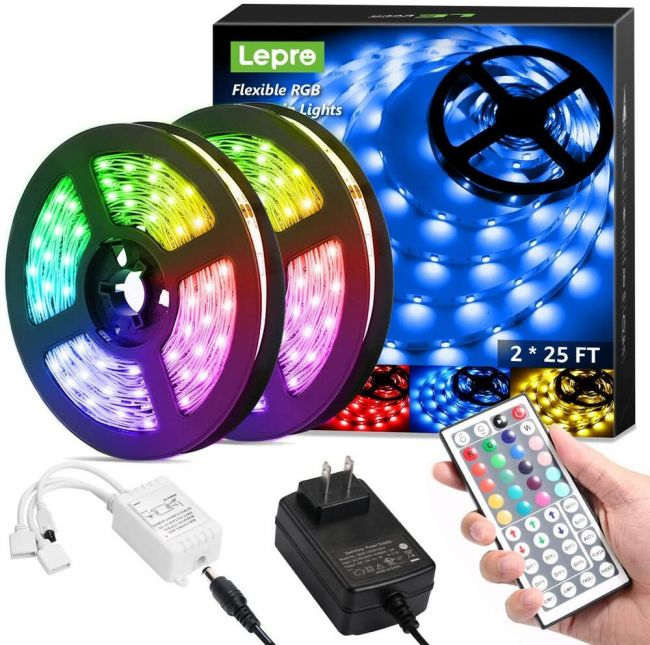 how to hang led strip lights video