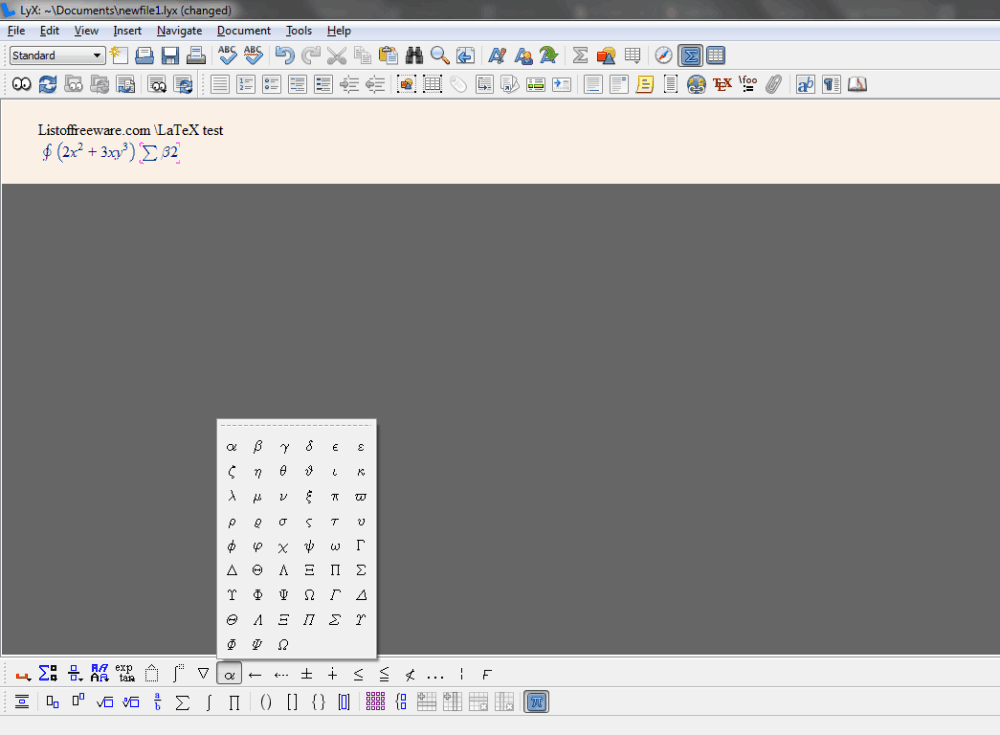 WinShell - LaTeX User Front End
