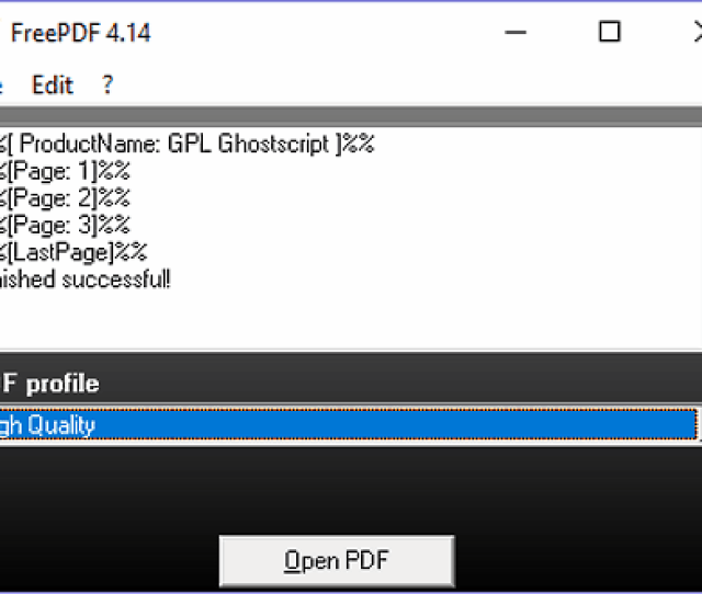 Freepdf Is A Free Prn Viewer Software For Windows It Is Used To Convert A Prn File To A Pdf And Also To View The Content Of A Prn File