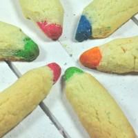 Buntstift-Kekse zur Einschulung