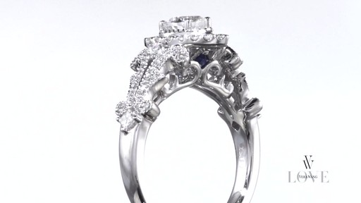 Pear Shaped Diamond Frame Engagement Ring In 14K White