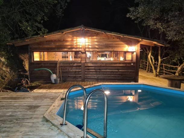 cabane avec piscine au cœur du maquis voir la carte villa 4 personnes 1 piece 1 chambre 50 m