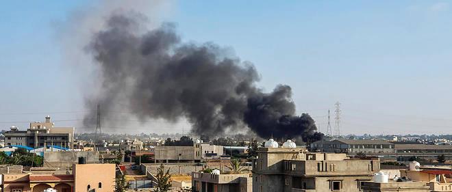 Un bombardement sur Tripoli le 29 juin 2019.