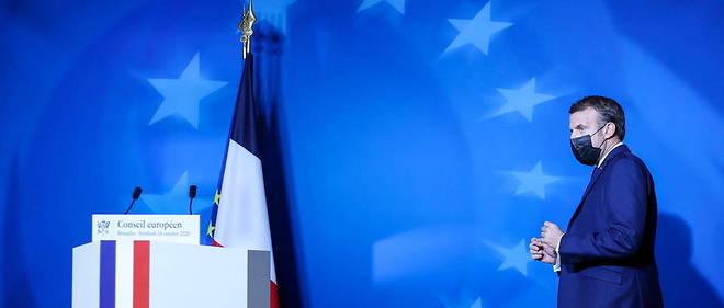 Emmanuel Macron in Brussels, in October 2020.