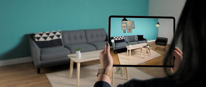 Sur le nouvel iPad Pro, le Lidar permet par exemple de simuler le remplacement d'un meuble dans une piece.