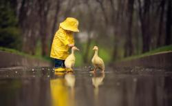 Áo mưa cho bé rộng và thoải mái