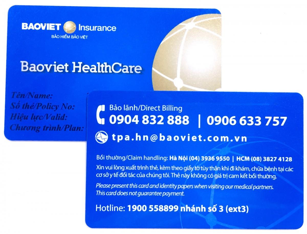 Thẻ xanh bảo lãnh bảo hiểm Bảo Việt