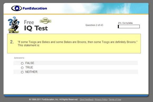 Answers Test Intelligence Iq