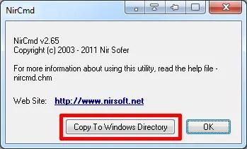 NirCmd, скопировать файл в каталог Windows