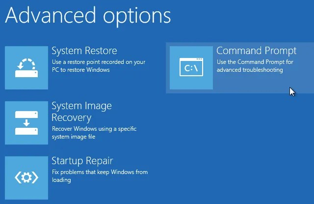startup advanced options command prompt - 4 Ways to Factory Reset Your Windows Computer
