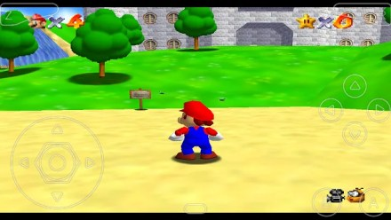 Mario 64 as played on N64oid for Android