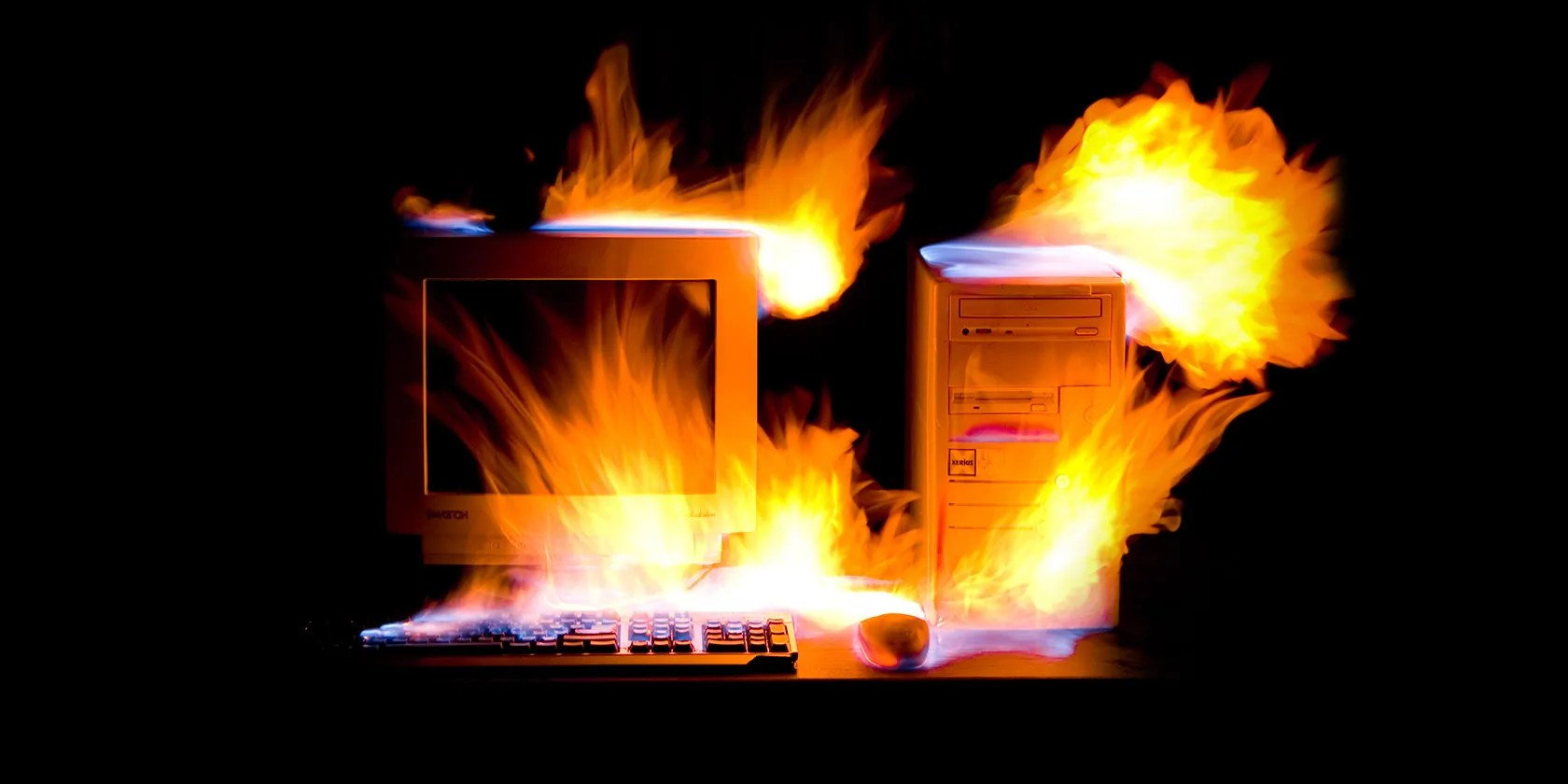 PC-on-fire