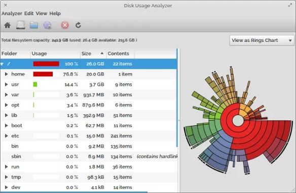7 Great Apps to View Disk Usage in Linux linux disk analyzers baobab
