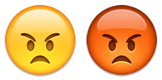 angry emoji emoticon red