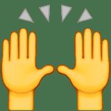 hands praising emoji emoticon