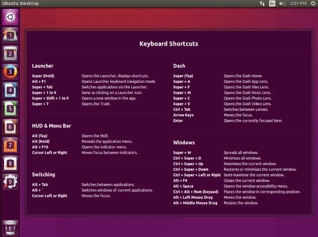 Советы по сочетанию клавиш для Ubuntu