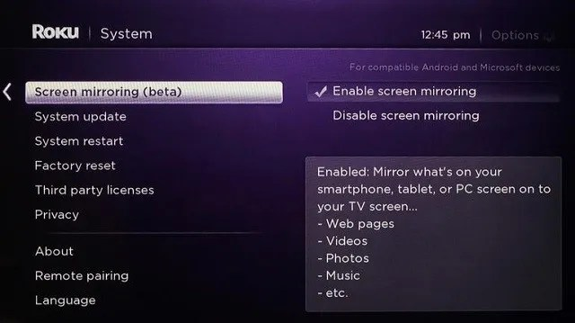 roku screen 640x359 - What Is Miracast? How to Use Miracast for Wireless Media Streaming