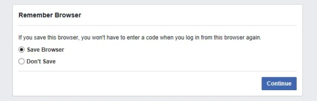 Facebook Remember Browser