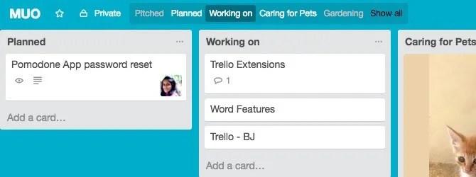 Trello Extension Trellists