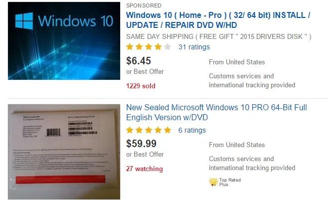 Licenza Windows 10 Ebay