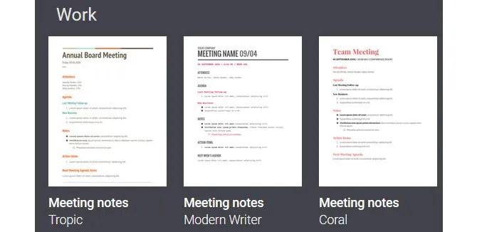Modelli di Google Documenti in minuti