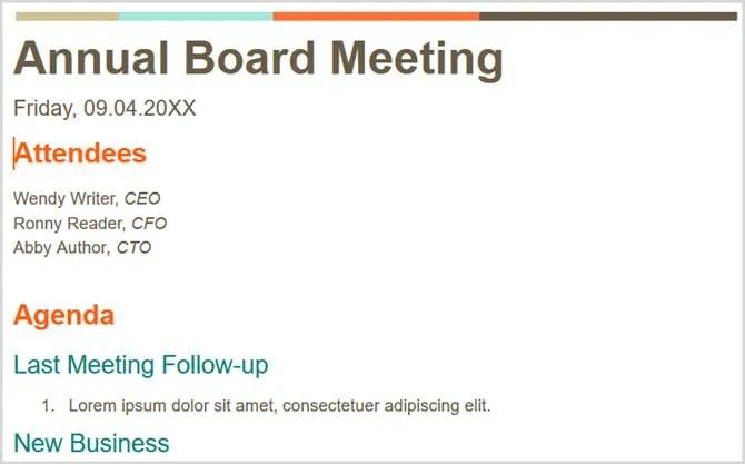 Tropic Meeting Minutes Google Docs