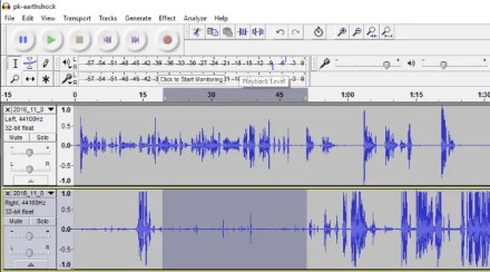 Remove background noise - Select the audio to take a sample of background noise