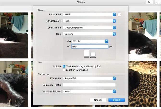 фотографии изменяют размер Mac