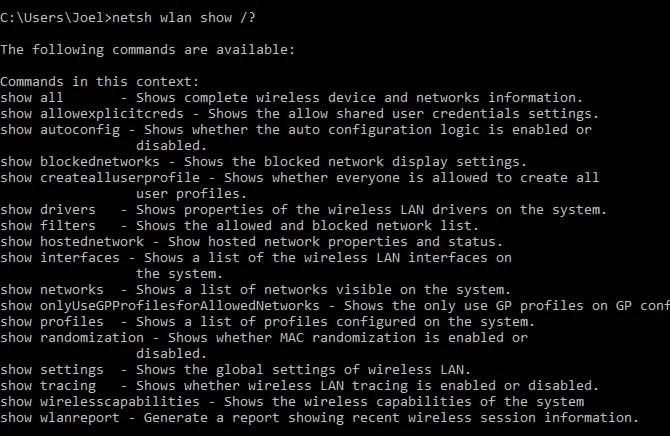 windows-command-netsh-subcommands