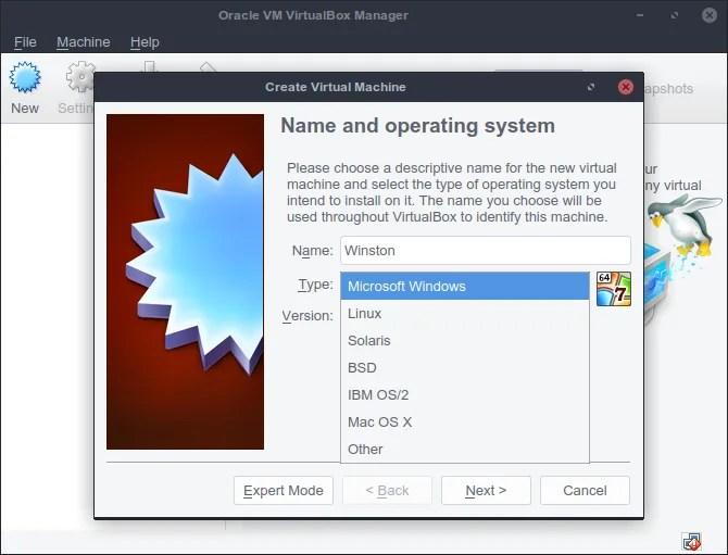 VirtualBox запускает операционные системы на виртуальной машине