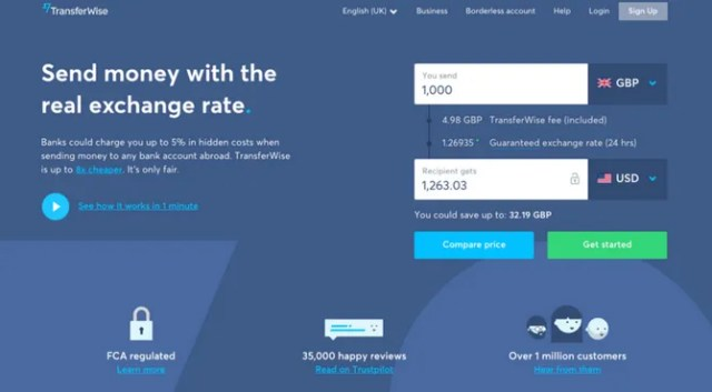 The Best Websites on the Internet Transferwise